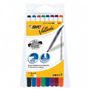 Bic Velleda Drywipe Marker  Assorted Colours / Pouch of 8